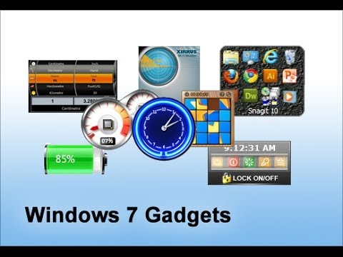 How to Fix Missing Gadgets in Windows 7