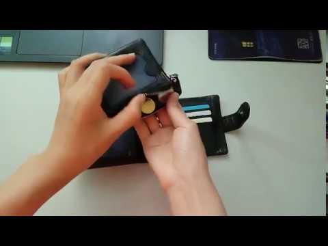 14 Card Position Short Men's Wallet 3 Fold Leather Coin Bag Black Removable Wallet