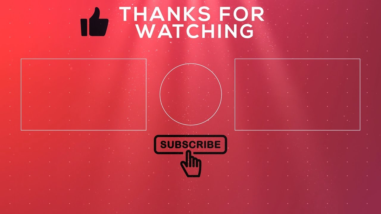 Free 2D Outro Template #11 [ENDSCREEN NO TEXT] - YouTube
