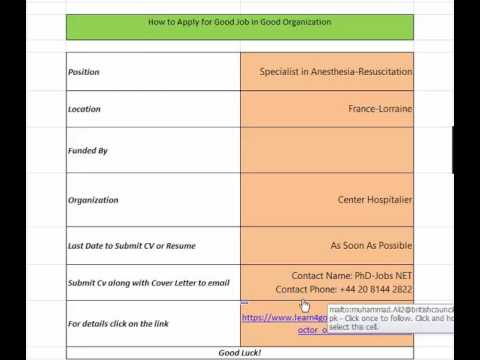 France-How to apply for Job in good organization 2017 part 11