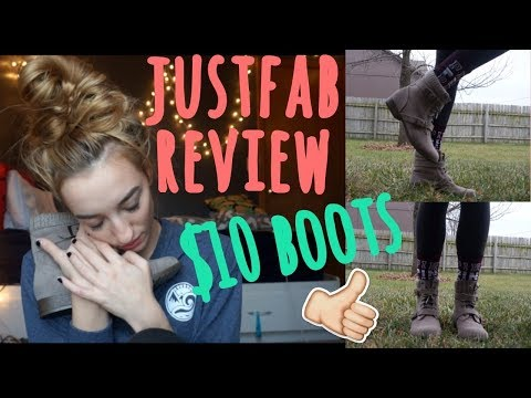 $10 Boots?! Is Justfab A Scam? | Unboxing, Review, Try-on