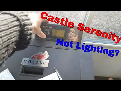 Castle Serenity Pellet Stove   Diagnosing No Flame   Disassembly, Cleaning   Replacing Igniter