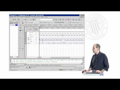 Diseño Front-End con Quartus II. Simulación Temporal | Curso Diseño con Quartus II (3-18) | UPV