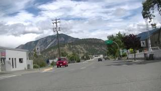 LYTTON British Columbia (BC) Canada - Driving in Town - Fraser Canyon Region/Area