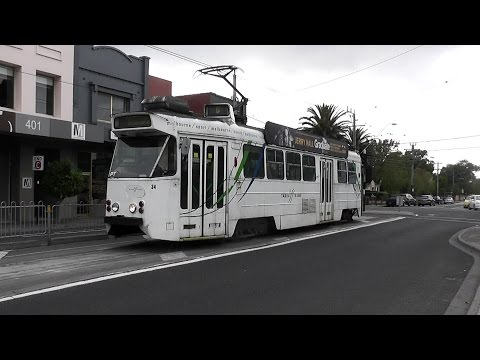 Melbourne Trams Z1 34 Driver View Route 5 Malvern to Bowen Crescent April 2013