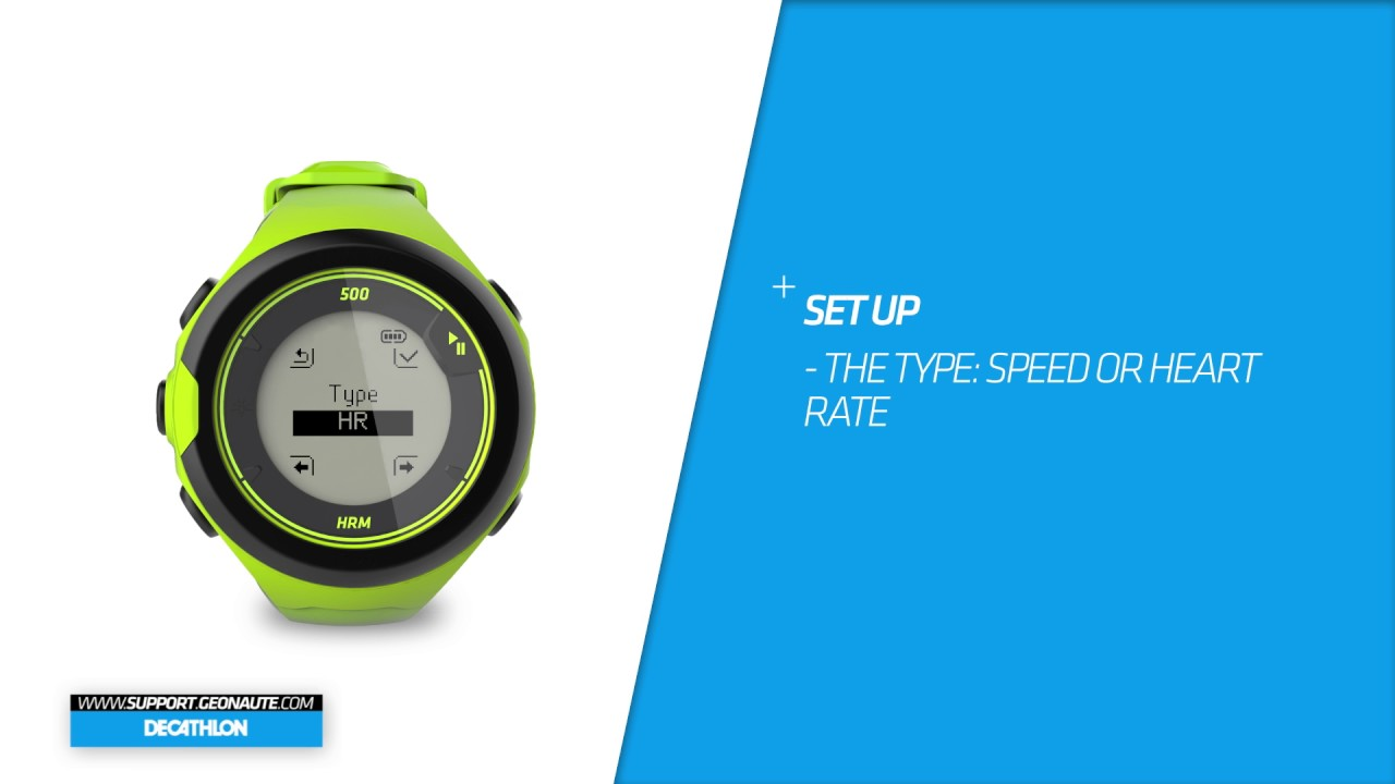 affordable price special sales wholesale online SAV DECATHLON ONMOVE 500 - EN- How to track a workout within a specific  heart rate or speed zone?