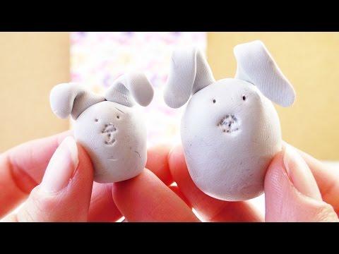 Süße Oster Hasen aus Fimo | DIY für Ostern als Deko oder Geschenk selber machen | einfach