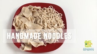 How to make hand cut noodles from scratch - [039]