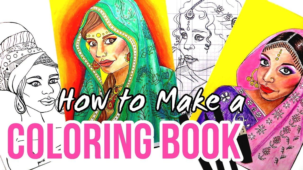Making a Coloring Book || Drawing Coloring Pages + Editing in GIMP