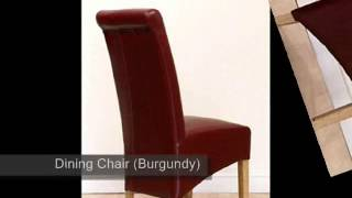 Montana Leather Dining Chair Burgundy)