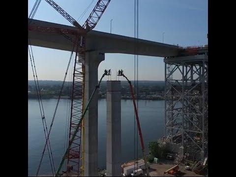 Drone video of Bayonne Bridge Project 3