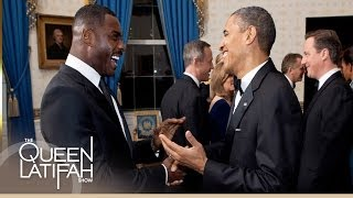 Idris Elba Talks Screening his Film with President Obama