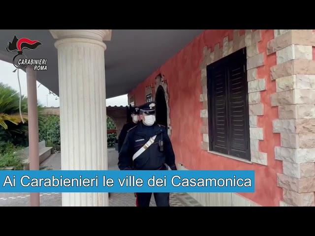 Ai Carabinieri le ville dei Casamonica