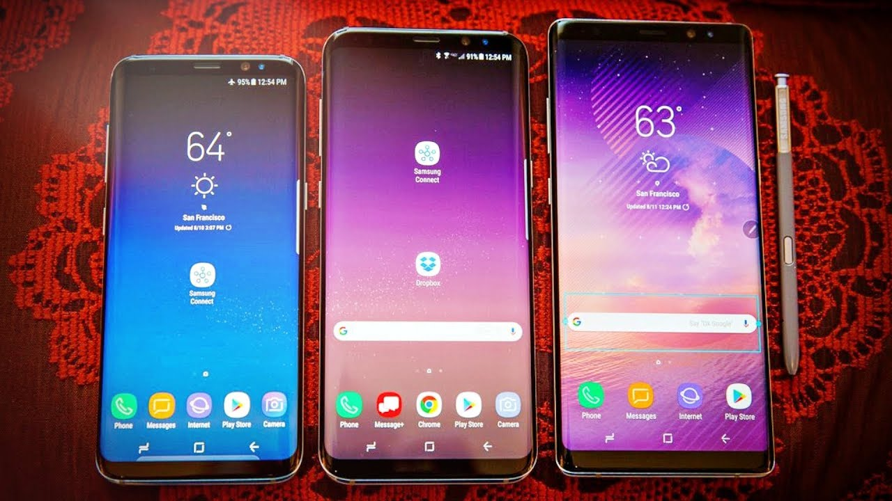 Samsung Galaxy Note 8 Vs S8 Plus Amp S8