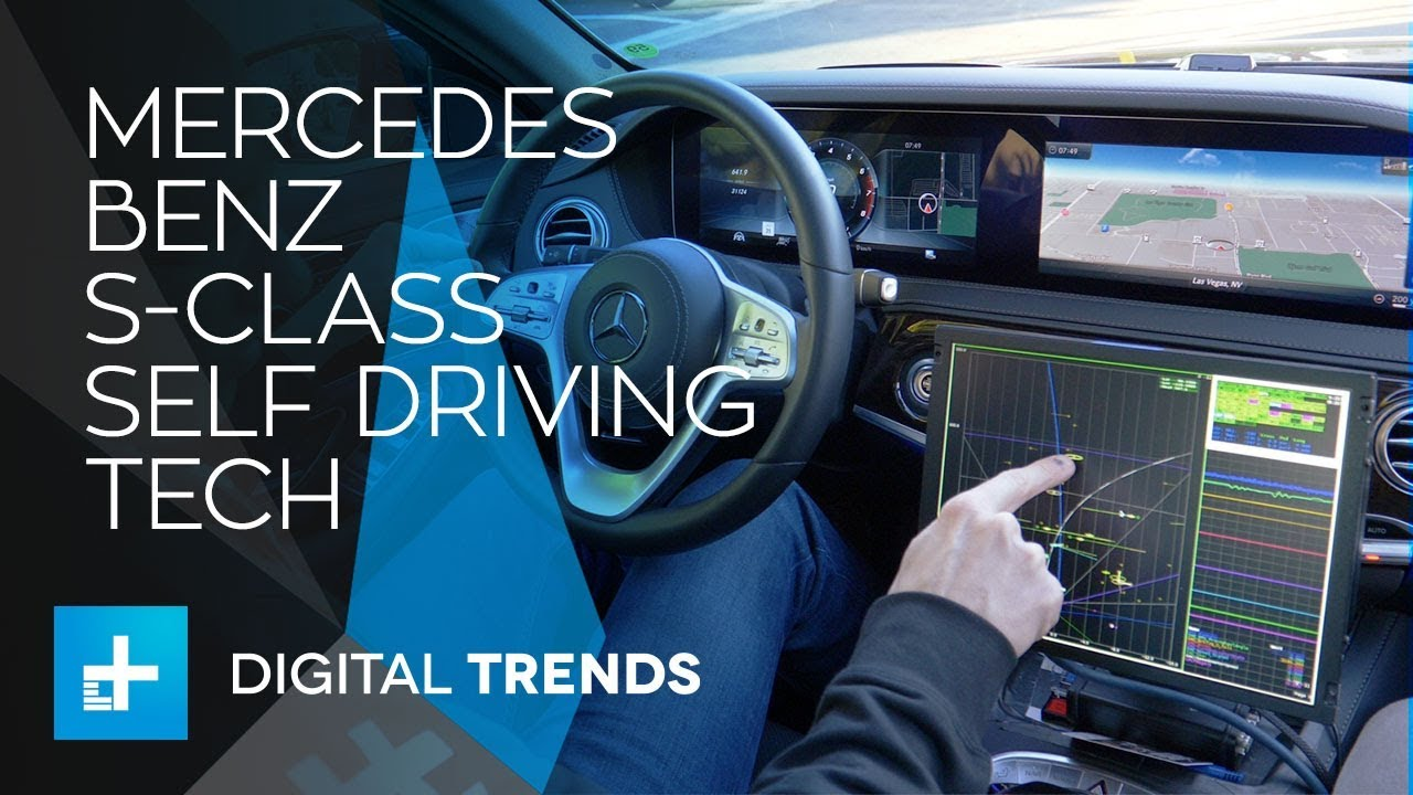 Mercedes Benz S-Class Self Driving Tech Research at CES 2018