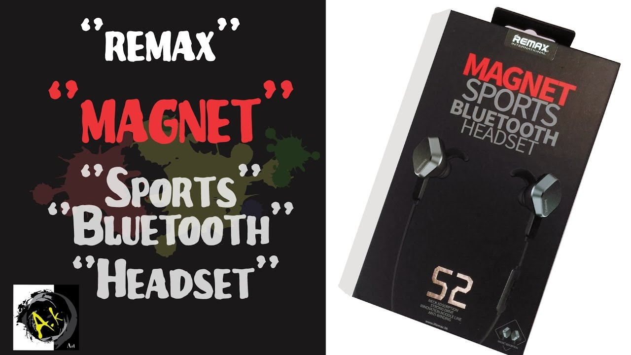 Unboxing Review Remax Magnet Sports Bluetooth Headset 1 Youtube