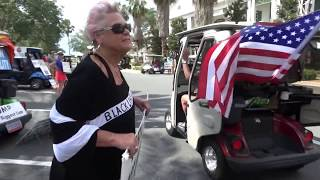 "Villager screams ""White Power""at Trump Golf Cart Rally in The Villages, Florida"