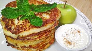 Яблок больше чем теста! Очень вкусные и сочные Оладьи с яблоками. Нежные яблочные Оладушки.
