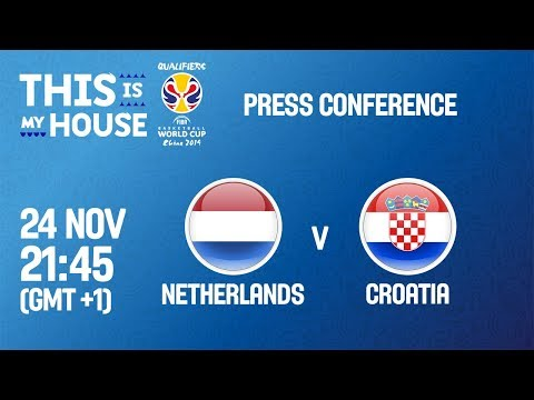 Netherlands v Croatia - Press Conf - FIBA Basketball World Cup 2019 - European Qualifiers