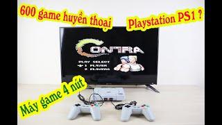 Máy chơi game 4 nút IB RS86 - 600 game huyền thoại Contra, Super mario, Bomber man, Advanture Island
