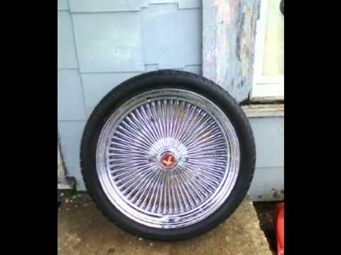 **4/SALE**22s 22in 22' 5 lug uni 180spoke wire wheels for ...