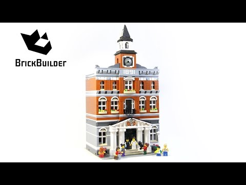 Lego Creator 10224 Town Hall - Lego Speed Build