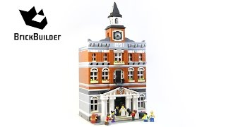 Lego Creator 10224 Town Hall - Lego Speed Build
