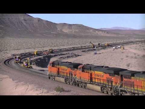 BNSF MOW Rail Production Ludlow, CA January 2014