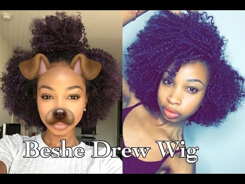 Beshe Drew Wig (Purple) UNBOXING & Review