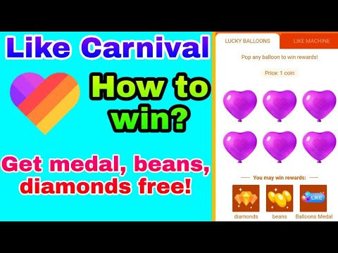 How to get medal on like app | Win beans and diamonds now | New Event |  Like Carnival