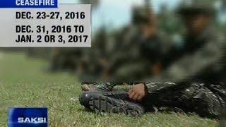 Saksi: Pangulong Duterte, nagdeklara ng ceasefire sa CPP-NPA, MILF at MNLF ngayong kapaskuhan