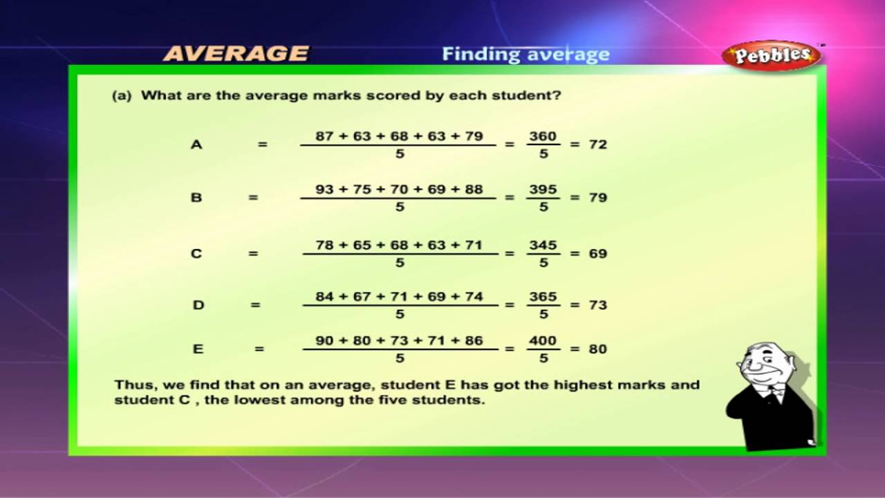 Cbse 5th CBSE Maths   Average   NCERT   CBSE Syllabus   Animated Video -  YouTube [ 720 x 1280 Pixel ]
