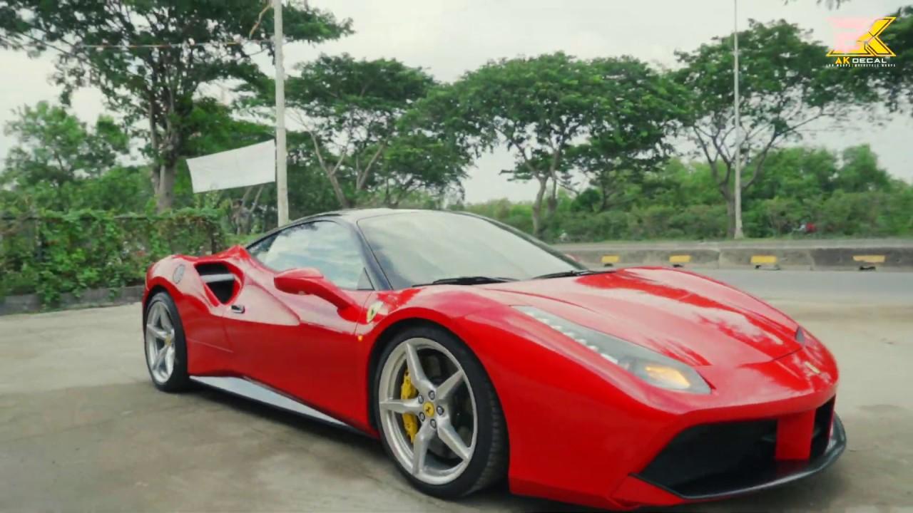 Siêu xe Ferrari 488 GTB thực hiện quá trình đổi màu - Car Wrapping by AK Decal