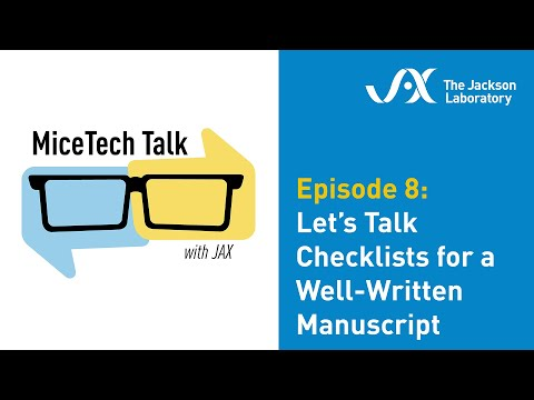 MiceTech Talk Episode 8: Let's Talk Checklists for a Well-Written Manuscript