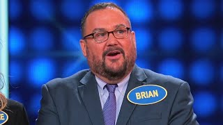 Brian gets an A for HONESTY | Celebrity Family Feud