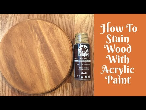 Everyday Crafting: How To Stain Wood With Acrylic Paint And Baby Wipes