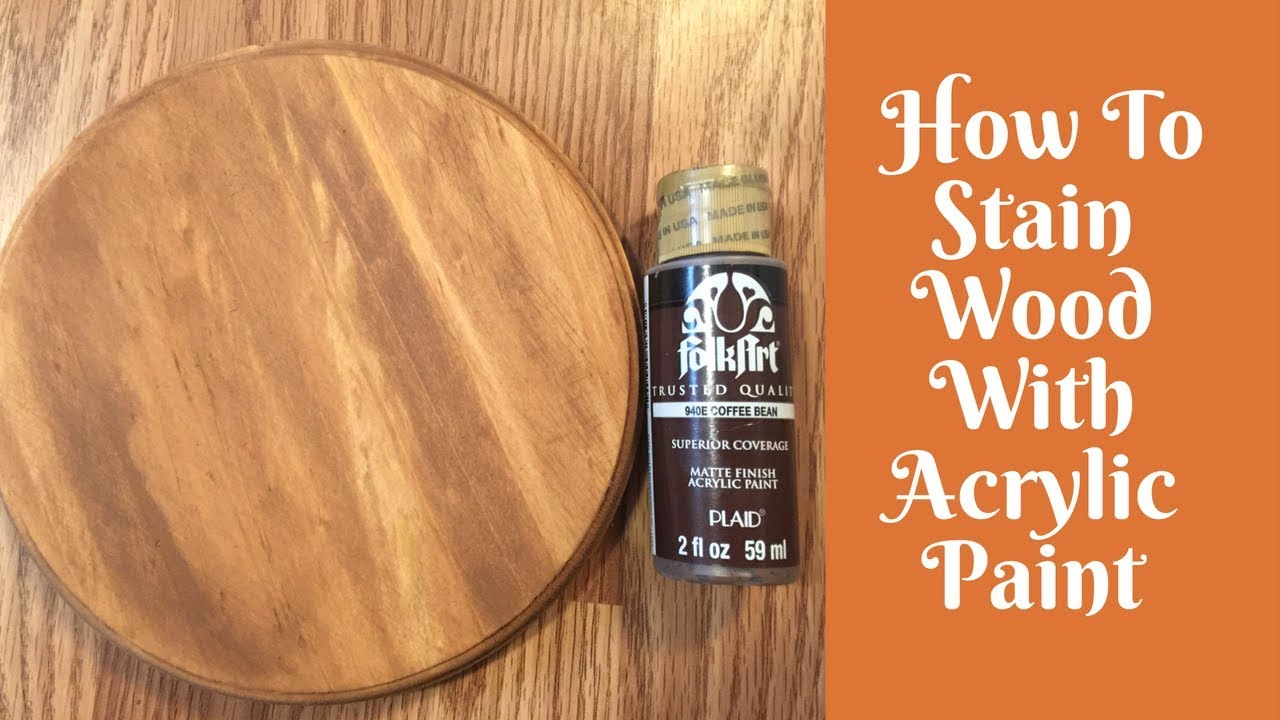 Everyday Crafting How To Stain Wood With Acrylic Paint And Baby Wipes
