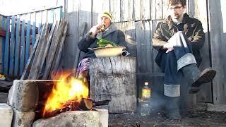 Огонь, печёный картофель и медный закат. 25.05.2016