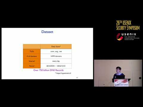 USENIX Security '17 -  A Longitudinal, End-to-End View of the DNSSEC Ecosystem