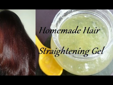 Gel for straightening hair