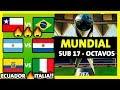MUNDIAL SUB 17 RESUMEN Y PREVIA  OCTAVOS DE FINAL - BRASIL 2019