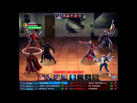 Marvel Avengers Alliance: Agent, Deadpool And Scarlet Witch PVP 3 Battles