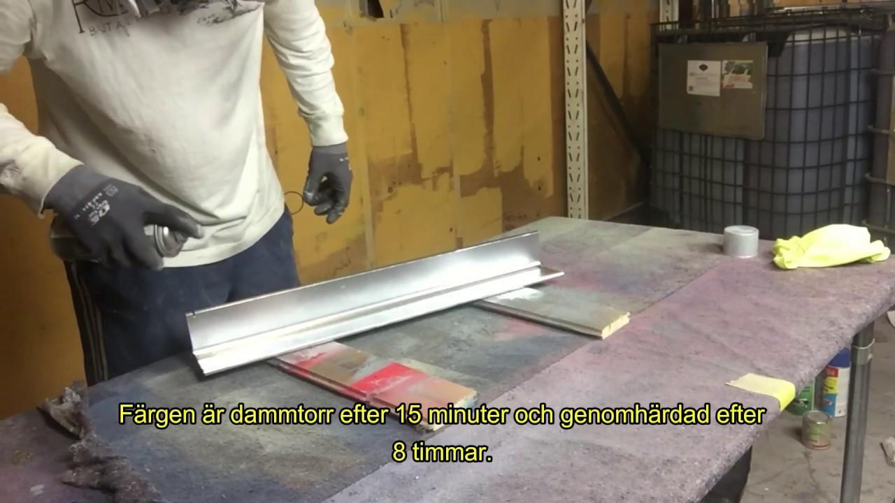sprayfärg rostfritt stål