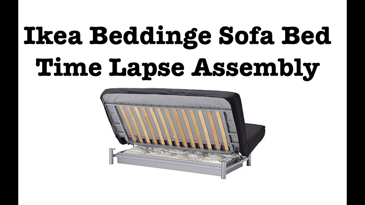 Bettsofa ikea lycksele  Ikea Sofa Bed Assembly Time Lapse - YouTube