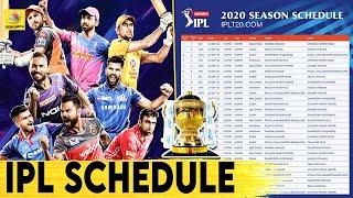 ஐபிஎல் 2020 முழு போட்டி அட்டவணை வெளியீடு | IPL2020 | IPL Schedule