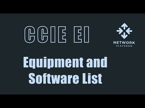CCIE Enterprise Infrastructure Equipment And Software List