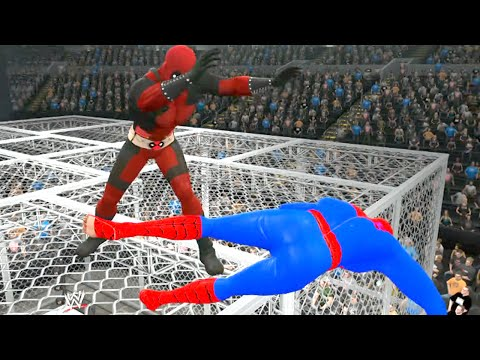 Spider-Man vs Deadpool  - EPIC BATTLE - WWE 2K15