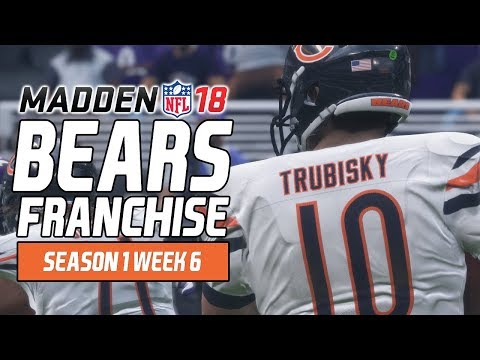 Madden NFL 18 - Bears Franchise Ep. 9 - Week 6 at Ravens [Season 1]