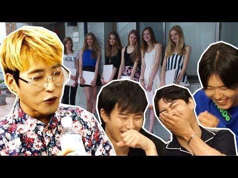 Реакция Корейских айдолов на Русских моделей