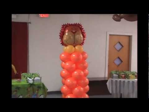 J c balloon decorations youtube for Balloon decoration ideas youtube
